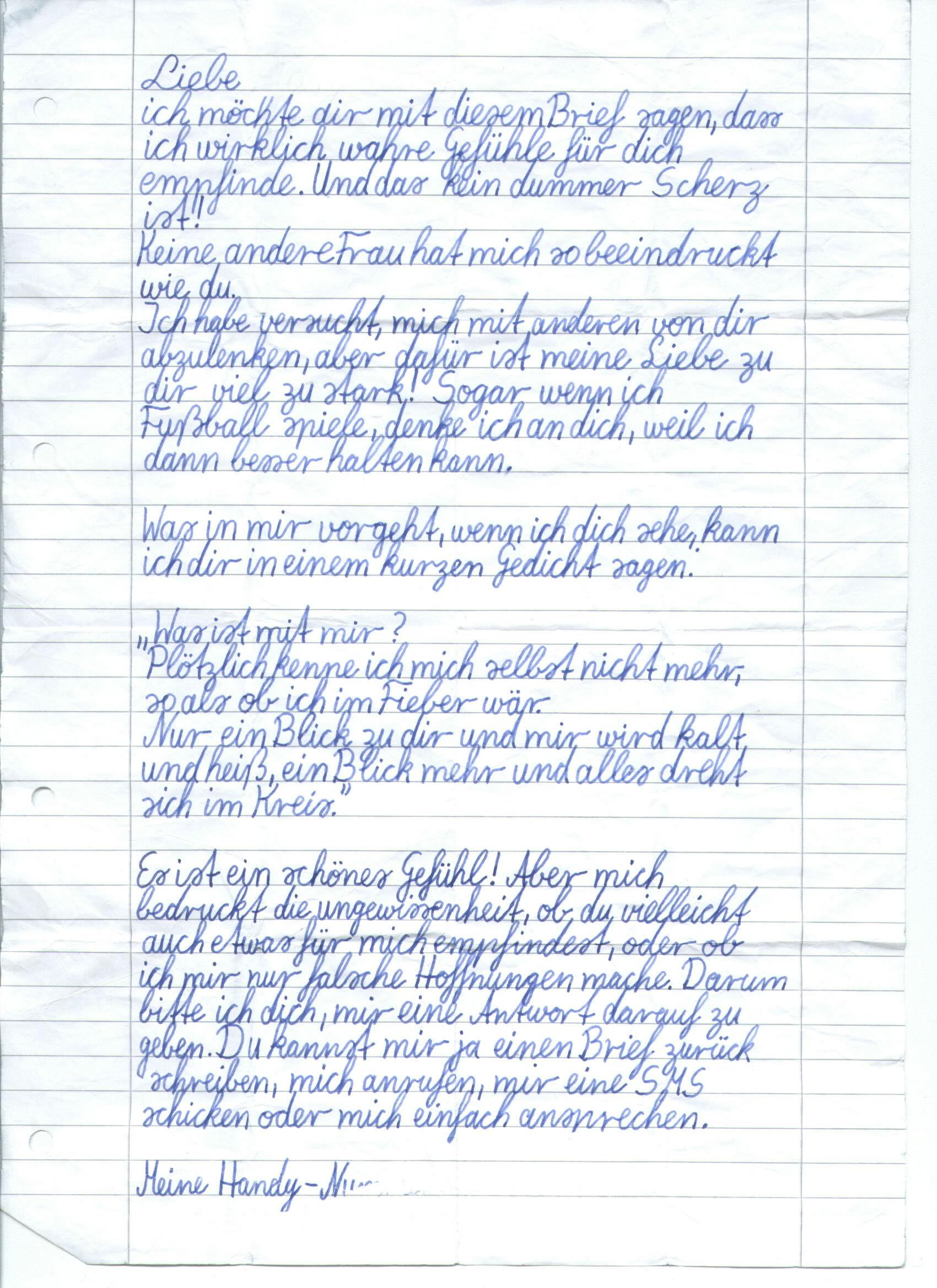 Brief Für Liebe : Liebesbrief
